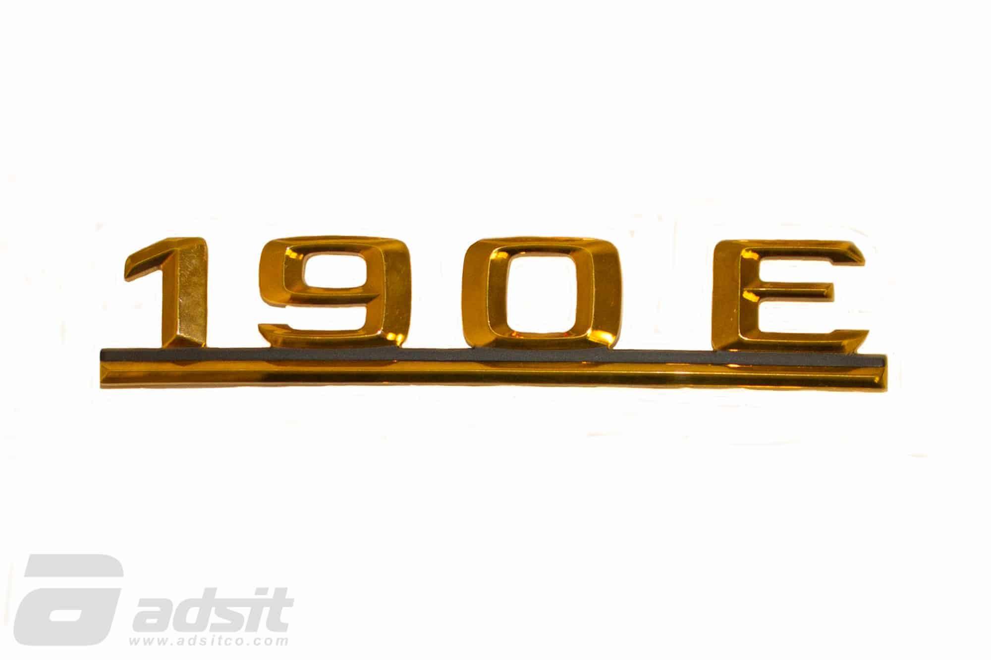 190E GOLD EMBLEM